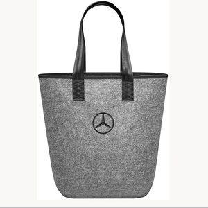 Mercedes Benz Gray Felt Tote Seatbelt Handles